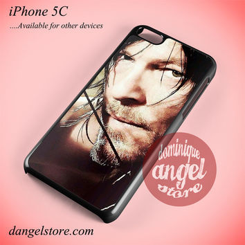 Daryl Dixon Face 2 Phone case for iPhone 5C and another iPhone devices