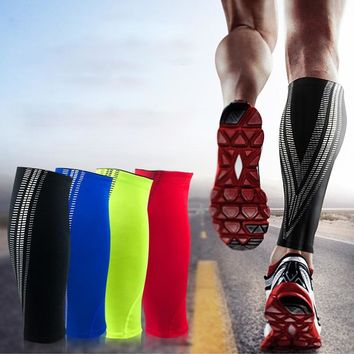 Outdoor Sports Elastic Anti Slip Compression Gaiters Calf Sleeve Wrap Guard Shin for Basketball Volleyball Men Support Calf
