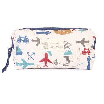 Travel Print  Cosmetic Pouch