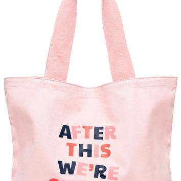After This We're Getting Tacos Big Canvas Tote Bag by Bando