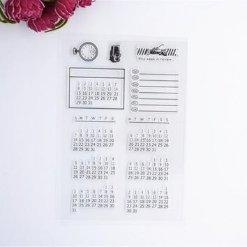 2017 New Scrapbook DIY Photo Album Cards Transparent Acrylic Silicone Rubber Clear Stamps Calendar