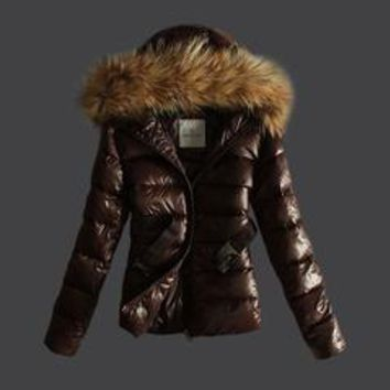Moncler Women's Fashion Casual Cardigan Jacket Coat fashion down jacket black