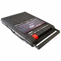 QFX Shoebox Tape Recorder USB Player