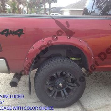 4X4 JAGGED EDGE TRUCK BED SIDE VINYL DECAL FOR CHEVY DODGE FORD NISSAN TOYOTA