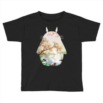 Totoro With Japanese Landscape Toddler T-shirt