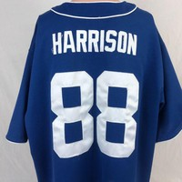 DCCKIN9 Marvin Harrison Indianapolis Colts Baseball Jersey XL NFL Team Football Sewn