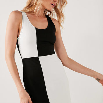 Cooperative Color Block Ponte Bodycon Mini Dress | Urban Outfitters