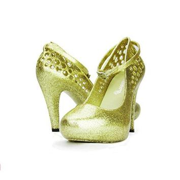 Chemistry High Fashion Ankle Strap Round Toe Sexy Stiletto High Heel Pump Shoes Green 6 BM US