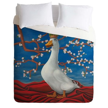 Ryan Rice Fine Art Peking Duck Duvet Cover | DENY Designs Home Accessories