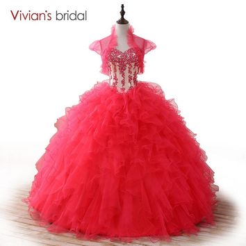Ball Gown Quinceanera Dresses Lace Sequin Sweetheart Sleeveless Sweet 16 Dress