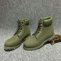 Timberland Rhubarb Boots 10061 Camouflage  Waterproof Martin Boots