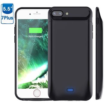 iPhone 8 Plus/7 plus Battery Case 7200mAh, Vproof Rechargeable External Battery Portable Power Charger Protective Charging Case for Apple iPhone 7+/8+ (5.5 Inch)