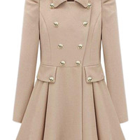 Double-breasted Cream Trench Coat | Pariscoming