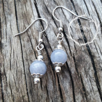Aquamarine earrings for her- gemstone jewelry - silver tone findings - beautiful gemstone dangle earrings