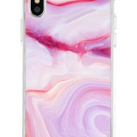 The Casery Marble iPhone Case - Raspberry