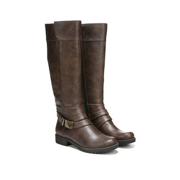 LifeStride Maximize Riding Boot Brown