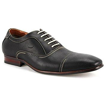 Men's 19285 Cap Toe Lace Up Dress Oxford Shoes