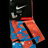 Thesockgame.com — OKC Thunder Quakes - Custom Nike Elite Socks
