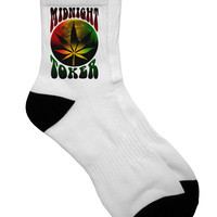 Midnight Toker Marijuana Adult Short Socks