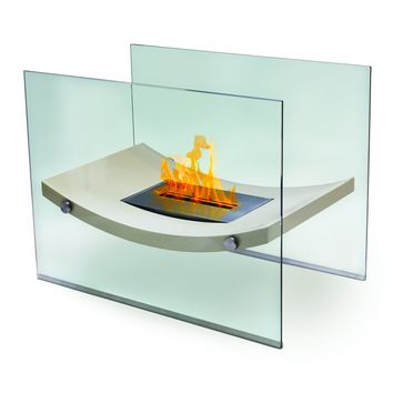 Broadway Floor Standing Bio-Ethanol Fireplace - Home Decor | Anywhere Fireplace