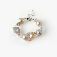 High Quality Big Baroque Pearls Bracelet