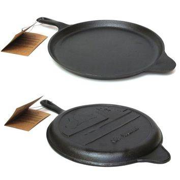 Cast Iron Old Mountain Preseasoned Round Griddle 10.5