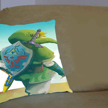 Zelda The Lagend of Zelda - Pillow Case, Pillow Cover, Custom Pillow Case **