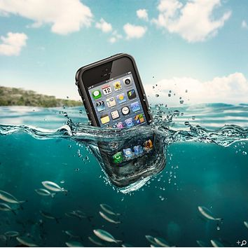 The Black LifeProof Fre Case for the iPhone 5-5s