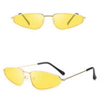 Leon Metal Vintage Sunglasses - Yellow
