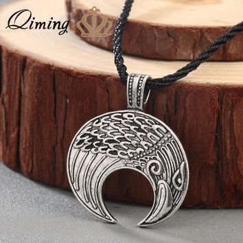 Moon Necklaces Amulet Crescent Moon Norse Slavic Fertility Pagan Necklace