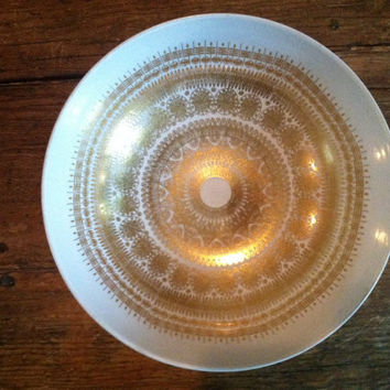 Rosenthal Hans Theo Baumann Gorgeous Intricately Detailed Gold Bowl Vintage Made in Germany