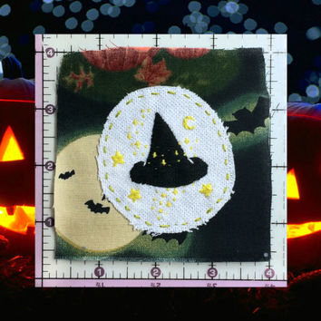 Witch Patch, Halloween Patch, Handmade Patch
