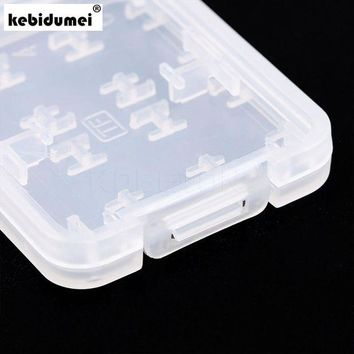 DCCKFS2 kebidumei 5pcs 8 in 1 Plastic Micro SD Card Case for SDHC TF MS Memory Card Storage Case Box Protector Holder High Quality