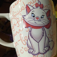 disney parks 3d aristocats personality marie ceramic coffee mug new