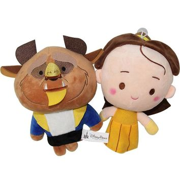 Disney Hot Sale 20cm Doll Belle Beauty And Beast  Cartoon Baby Kids Plush Toys Comforting Sofa Xmas Gift Film Kiss Love True