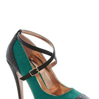 Concert in the Square Heel in Teal
