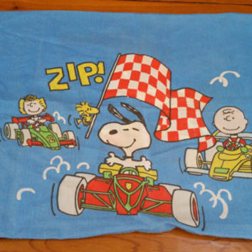 Vintage Charlie Brown Pillow Case Peanuts Characters 1960s