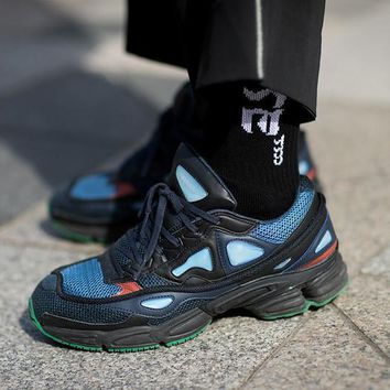 Raf Simons x Adidas Consortium OzweegoBY9866 Night Marine 2018 Women Men Casual Trending Running Sports Shoes Sneakers