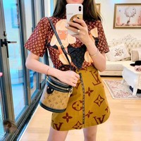 Louis Vuitton Casual  Women Pattern Letter Simple Fashion All-match Short Skirt