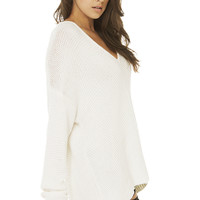 Six Crisp Days Off The Shoulder Sweater in Ivory