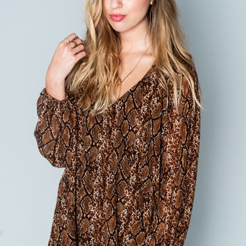 Show Me Your Mumu ~ Donna Michelle Tunic ~ Bronze