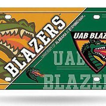 ICIKIHN Alabama at Birmingham Blazers UAB NSD150402 Metal License Plate Tag University