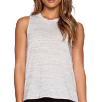 Bella Luxx Marbled Muscle Tank in Gray