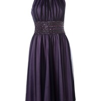 JS Collections Mesh beaded keyhole dress Navy - House of Fraser