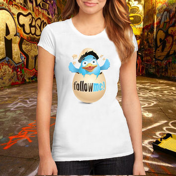 Follow Me Break The Egg T Shirt Printed T Shirt, Women T Shirt, (Various Color Available)