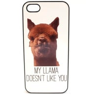 My Llama Doesn't Like You Phone Case
