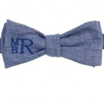 Outlet Sweet as Sugar Chambray Bow Tie