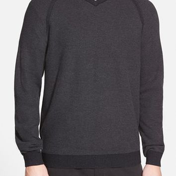 Men's Big & Tall Tommy Bahama 'Make Mine a Double V-Neck' Raglan Pullover,