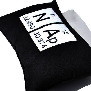 Periodic Table Chemistry Elements Nap Black by YellowBugBoutique