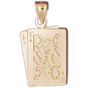 14K GOLD GAMBLING CHARM - PLAYING CARDS #5444